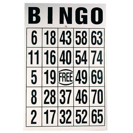 Giant Print Bingo Card - Black on White Background (Printable Halloween Bingo Black And White)