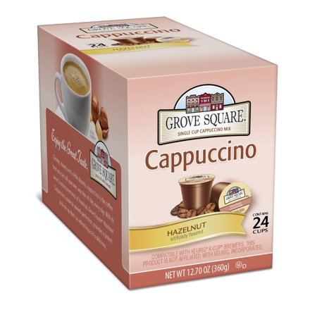 Grove Square K Cups   Cappcuccino Mix   Hazelnut  24 Count