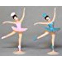 A1BakerySupplies Ballerina 2 Inch Height Dancing Girls Cupcake Toppers - 24 Pieces