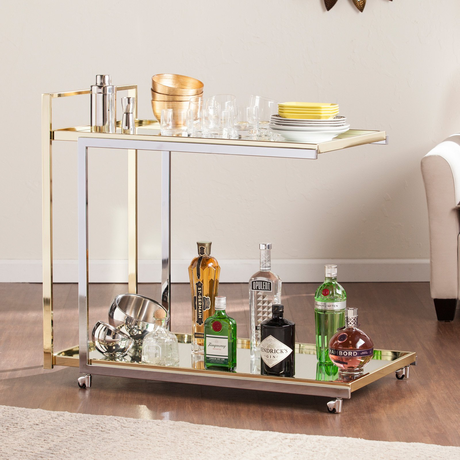 Southern Enterprises Riata Portable Bar Cart