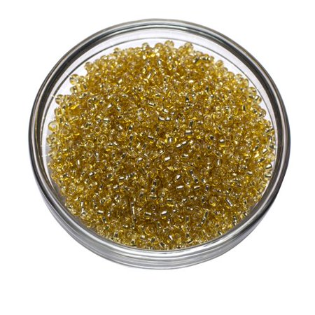 Cousin Gold Seed Beads, 40g - Gold Heart Brads