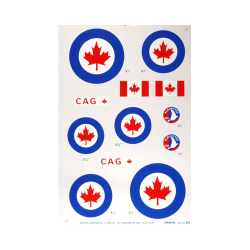 640P Pressure Decal Canadian .40 Multi-Colored