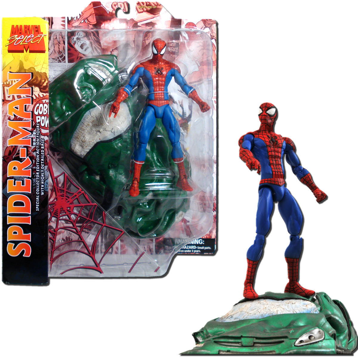 "Marvel Marvel Select Spider-Man 7"" Action Figure [With Car] by Diamond Comic Distributors, Inc."