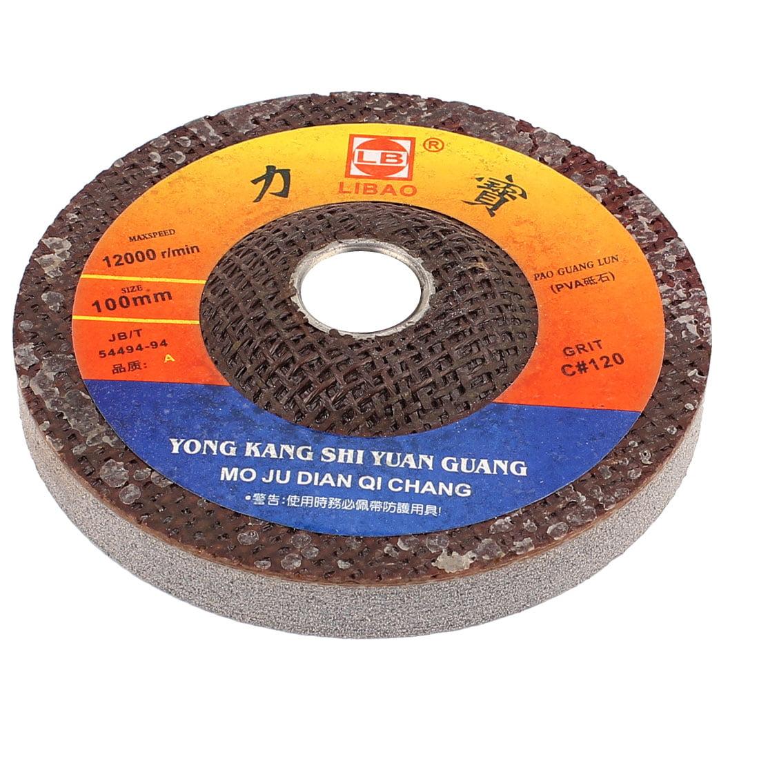 100mm x 16mm Metal Grinding Tool Abrasive Polishing Wheel Gray by