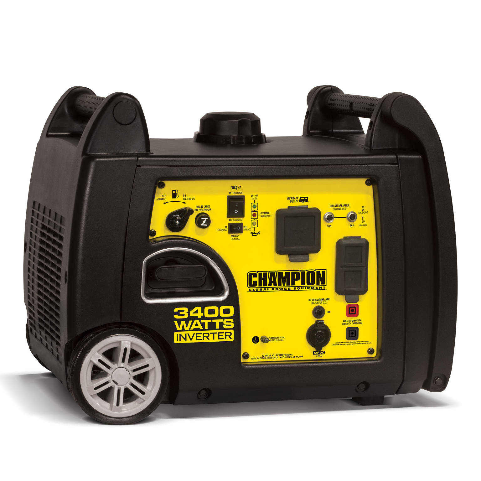 Champion 100233 3400-Watt RV Ready Portable Inverter Generator