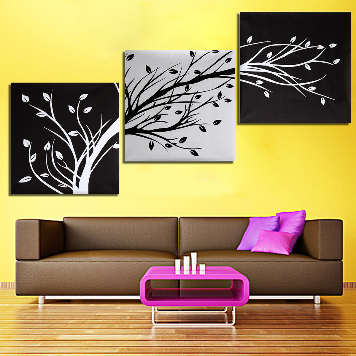 3 Panel Oil Painting Canvas Prints Picture Modern Abstract Home Wall ...
