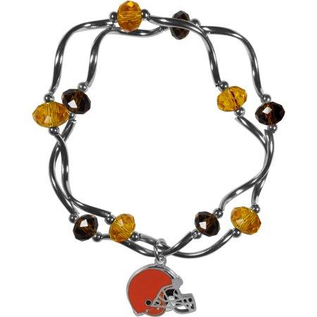 Nfl Cleveland Browns Stretch Bead Bracelet