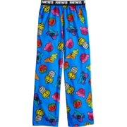 Boys Blue Fortnite Team Spray Character Pajama Bottoms Lounge Sleep Pants