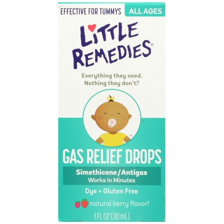 Little Remedies Tummy Relief Drops, Natural Berry Flavor, 1