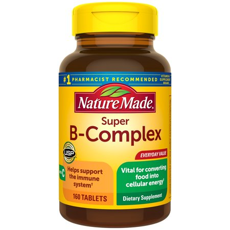 Nature Made Super B-Complex Tablets, 160 Count for Metabolic (Best Vitamin C Tablets In India)