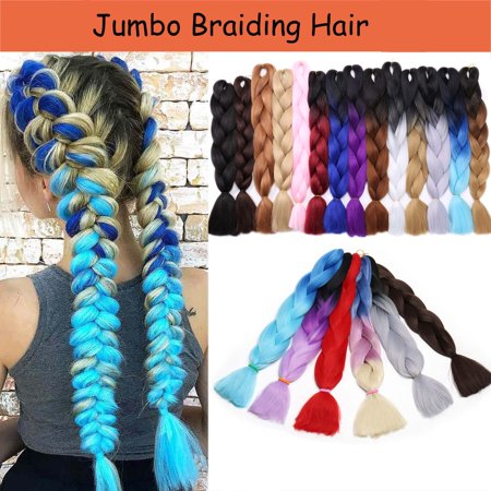 S-noilite 24 Inches 5pcs/lot Ombre Braiding Hair Synthetic Braiding Hair Two Tone Ombre Jumbo Braids Hair Extensions Twist Crochet Hair dark
