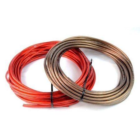 8 Gauge 50ft Black & 50ft Red Power/Ground Wire for Car Audio Amplifier