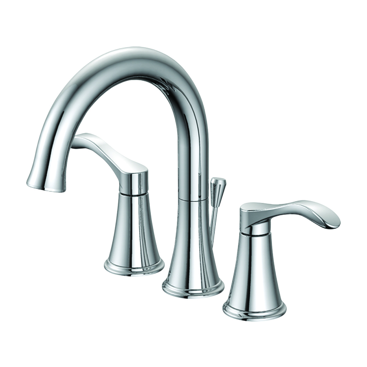 EZ-FLO 10713 Two-Handle Widespread Bathroom Lavatory Faucet with 50/50 Pop-up, Chrome