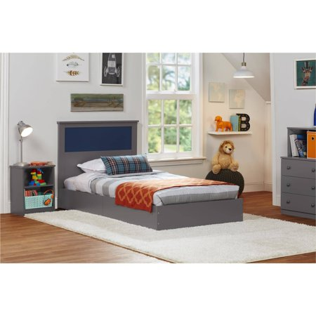Ameriwood Home Skyler Bed, Twin, Multiple Colors, With Reversible (Rooms To Go Kids Twin)
