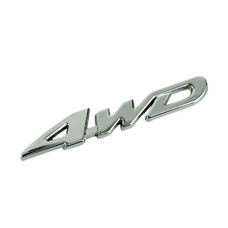 Car Metal Chrome 4WD Displacement Emblem Badge All Wheel Drive Auto sticker (4wd Ex Auto)
