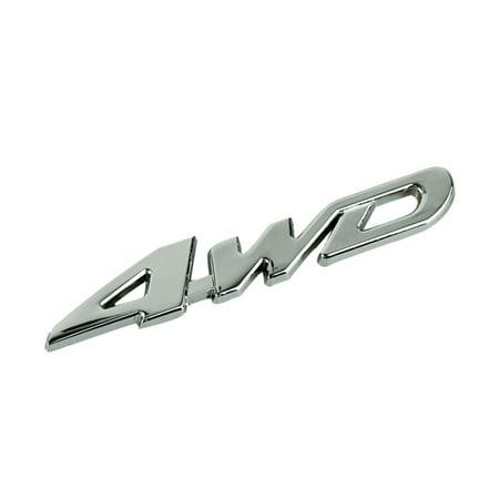 Car Metal Chrome 4WD Displacement Emblem Badge All Wheel Drive Auto sticker