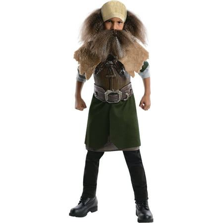 Kids Childs Boys Lord of the Rings Hobbit Dwarf Viking Dwalin Character Costume