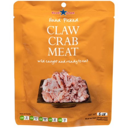 Blue Star Food Products Blue Swimming Claw Meat Crabmeat, 6 oz