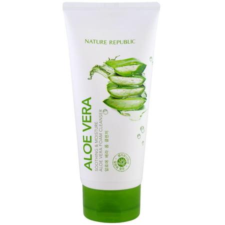 Moisture Foam (Nature Republic  Aloe Vera  Soothing   Moisture Aloe Vera Foam Cleanser  5 07 fl oz  150 ml)