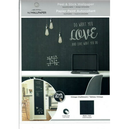 Wall Pops By Brewster Nu2220 Chalkboard Peel And Stick Wallpaper