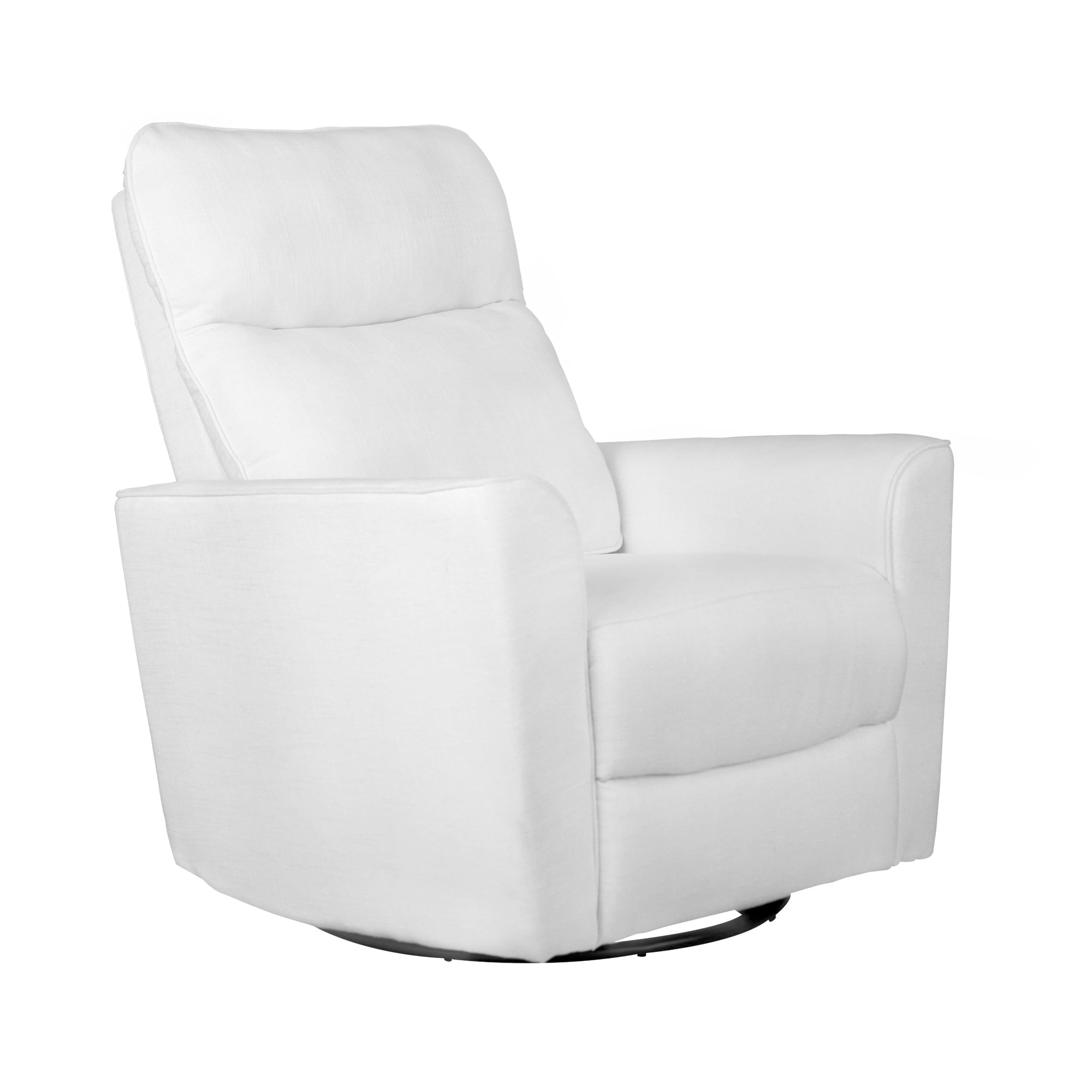 Karla Dubois Soho Comfort Upholstered Swivel Glider- Grey by Karla Dubois