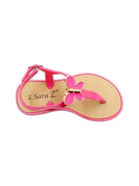 5eb34edb1288 Product Image Sara Z Toddler Vegan T-Strap Sandals With Ornament