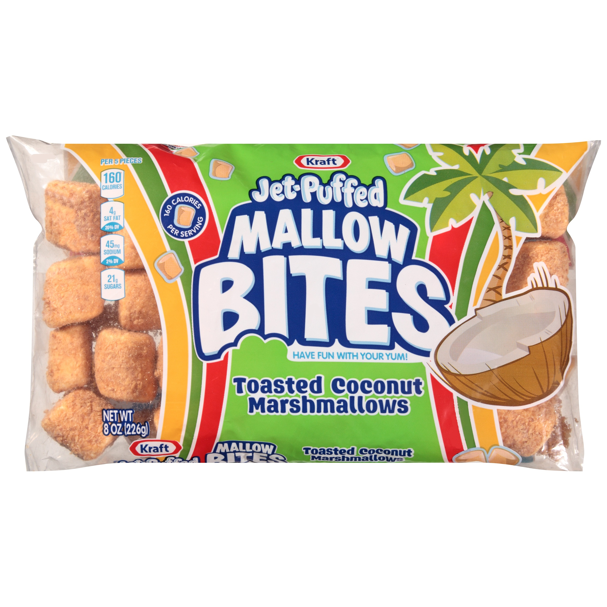 Kraft Jet-Puffed Marshmallows Mallow Bites Toasted Coconut, 8 Oz