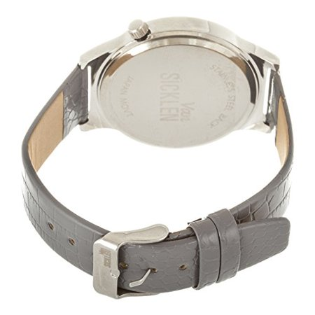 Men's Grey Paint Dial / Silver case with Grey Leather Strap (Silver Case Leather Strap)