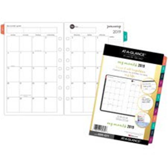 AT-A-Glance AAG60994211 Harmony 2PPM Monthly Planner Refill, White 5.5 x 8.5 in. by AT-A-GLANCE