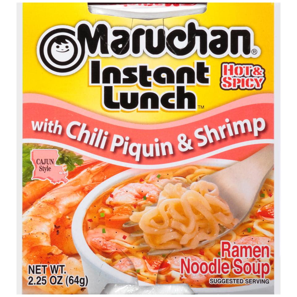Maruchan® Instant Lunch™ Ramen Noodle Soup with Chili Piquin & Shrimp 2.25 oz. Cup