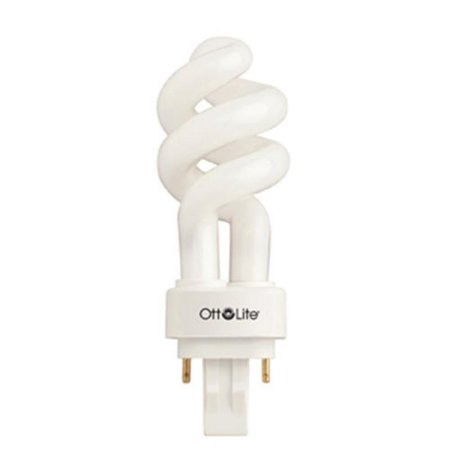 Ott lite 13 watt plug in swirl compact fluorescent light bulb ottlite high definition natural Ott light bulb