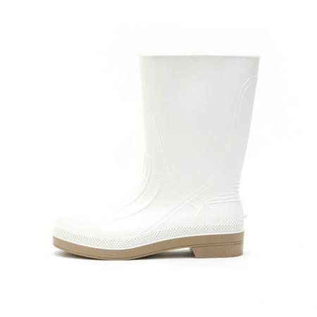 Xtratuf Men's 11'' Shrimp Waterproof Boots White PVC Memory Foam 4 M
