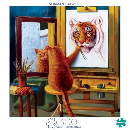 Halloween Games Jigsaw Puzzles (Buffalo Games - Art of Play Series - Norman Catwell - 300 Large Piece Jigsaw)