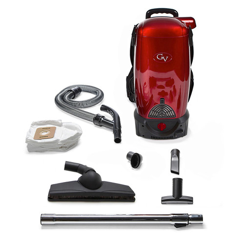 GV 8 Qt. Commercial Pro Cordless Battery Powered HEPA Backpack Back Pack Vacuum