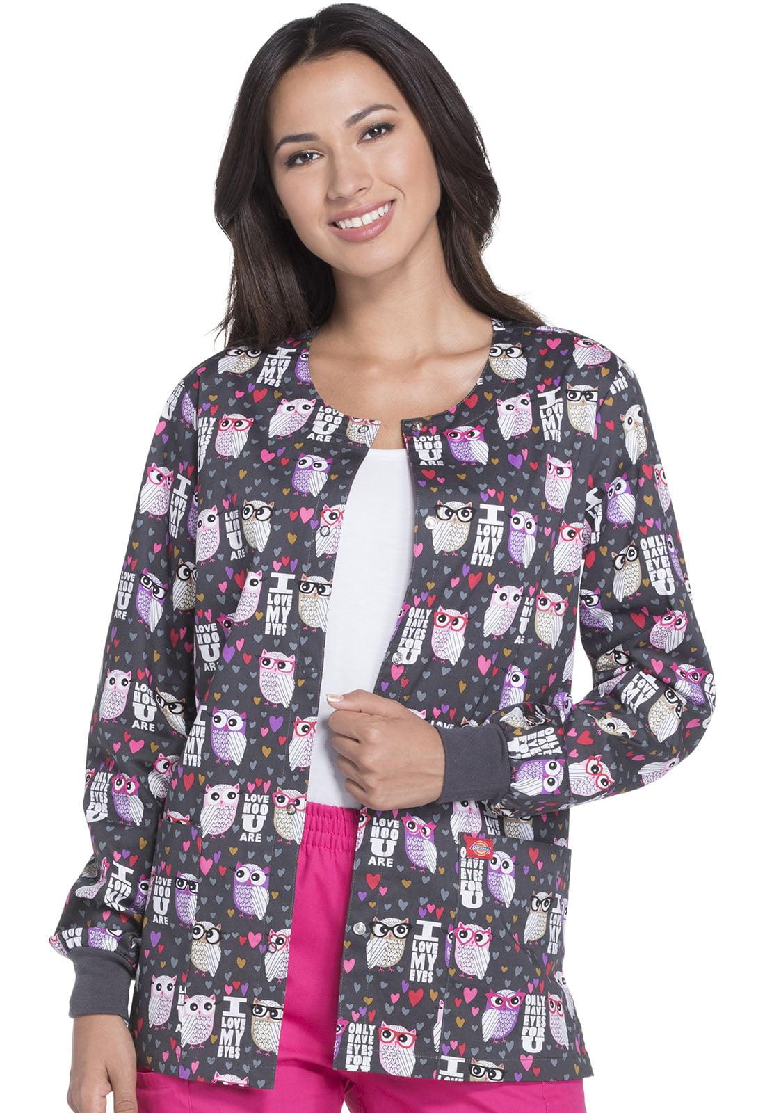Adopt Don/'t Shop Dickies Scrubs EDS Snap Front Warm Up Jacket DK301 APDO