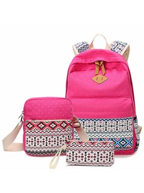 531be14871 Product Image 3Pcs Fashion Canvas Backpack School Backpack with Cross-body  Bag and Purse Pen Bag