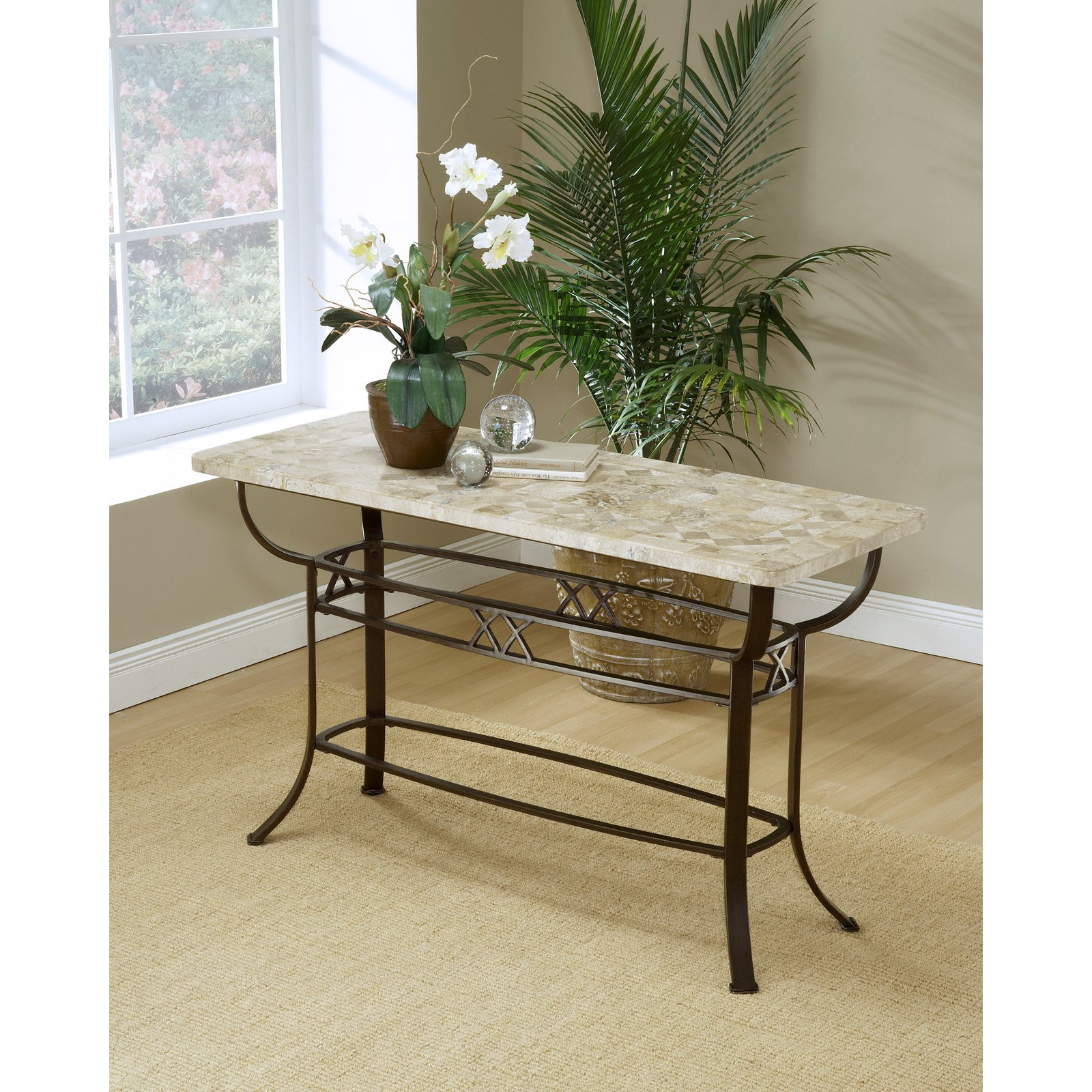 Brookside Fossil Stone Console Table