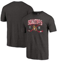 Ottawa Senators Fanatics Branded Vintage Collection Line Shift Tri-Blend T-Shirt - Black