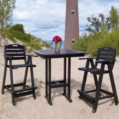 POLYWOOD® Recycled Plastic Nautical High Patio Dining Set