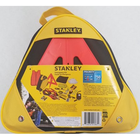 Stanley Emergency Roadside Kit with Booster Cables and Compressor (ERK3S)