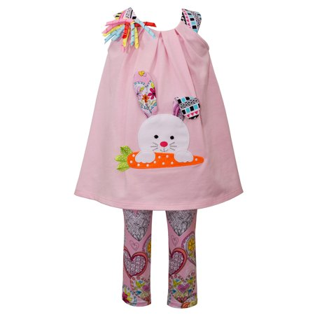 Bunny Girl Set (Bonnie Jean Girls Bunny Knit Easter Clothing Set 24)