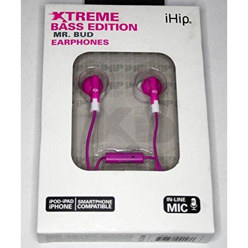 iHip Xtreme Bass Edition Mr Bud Earphones Pink Headphones