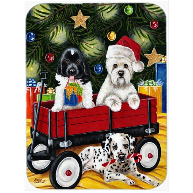 Carolines Treasures AMB1445MP Christmas Westie, Newfoundland, Dalmatian Mouse Pad, Hot Pad or Trivet - image 1 of 1