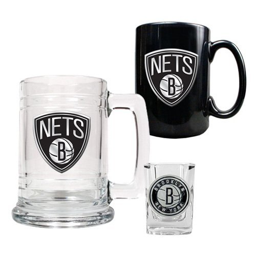 NBA - Golden State Warriors Logo 15oz. Tankard, 15oz. Ceramic Mug and 2oz. Shot Glass Set