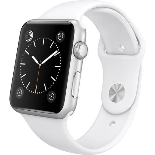 Refurbished Apple Watch Gen 1 Sport 42mm Silver Aluminum - White Sport Band