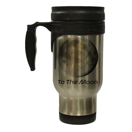 Bitcoin to the Moon Stainless Steel 12 oz Hot Cold Travel Mug