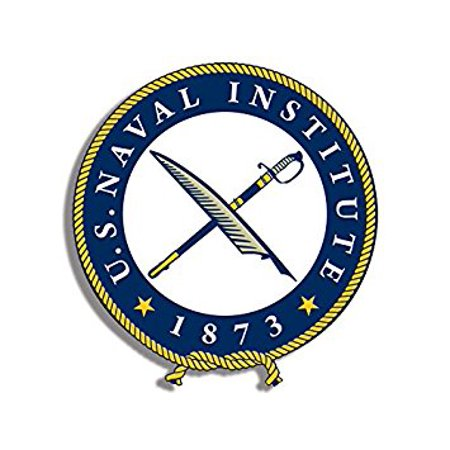US NAVAL INSTITUTE Seal Shaped Sticker Decal (military logo navy) Size: 4 x 4 inch Navy Seals Trident Decal