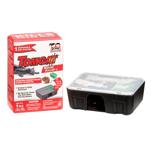 Tomcat Disposable Mouse Killer II Bait Station, 1ct