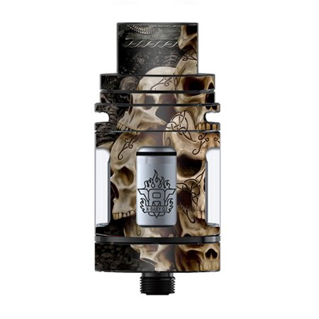 Skin Decal Vinyl Wrap for Smok TFV8 X-Baby Tank Vape skins stickers cover / Wicked Skulls Tattooed (Wicked Jester Tattoos)