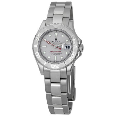Pre-owned Rolex Yachtmaster Grey Dial Bracelet Ladies Watch